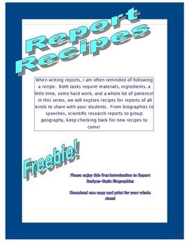 Report Recipes - Biographies