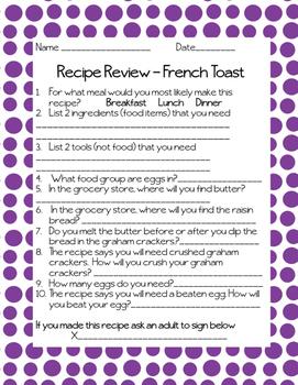 Recipe Reviews