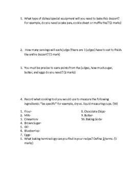 Recipe Scavenger Hunt Assignment