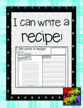 Recipe Template (S.Malek Freebie)
