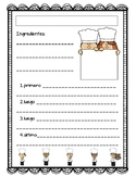 Recipe Writing Sheet - Spanish