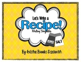Recipe Writing Templates