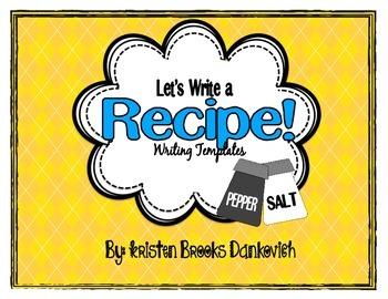 Recipe Writing Templates