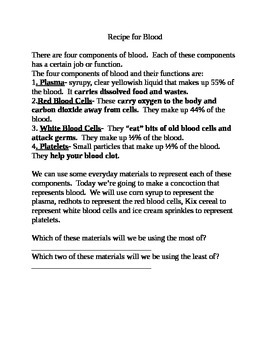 Recipe for Blood