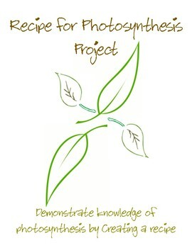 Recipe for Photosynthesis Project