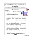 Recipe for Reading Comprehension - Apple Turkey