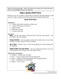 Recipe for Reading Comprehension - Spooky Witch's Brew