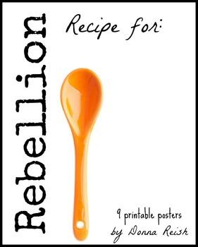 Recipe for Rebellion Printable Poster