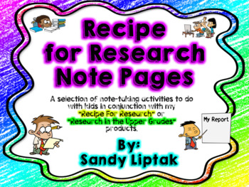 Recipe for Research Note Pages