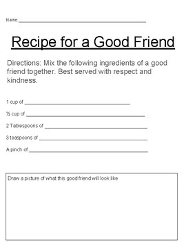 Recipe for a Good Friend
