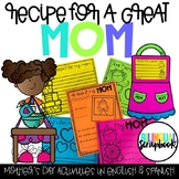 Recipe for a Great Mom (Mother's Day Craft in English and Spanish)