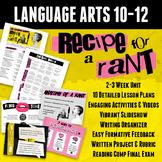 Recipe for a Rant: Persuasive Writing Unit