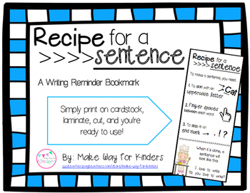 Recipe for a Sentence