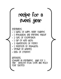 Recipe for a Sweet Year Bulletin Board Poster
