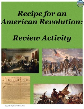 Recipe for an American Revolution Review Activity