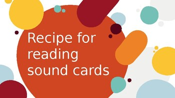 Recipe for reading sound cards power point