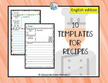 recipe templates by tapas for two spanish resources tpt
