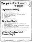 Recipe to Write a Story Problem