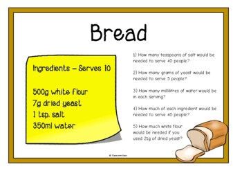 Recipes - Ratio and Proportion