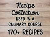 Recipes Used in Culinary Arts Program and Fundraising Ideas for Culinary Program