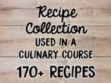 Recipes Used in Culinary Arts Program and Fundraising Idea