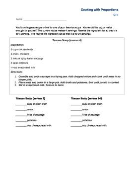 Recipes and Math