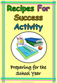 Recipes for Success Procedure Back to School or End of Year Printable Worksheet