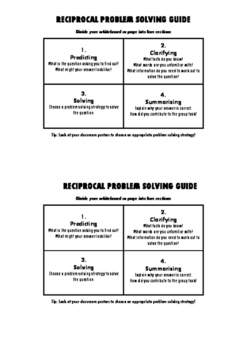 Reciprocal Problem Solving Guide for Mathematics