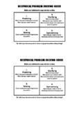 Reciprocal Problem Solving Guide for Mathematics