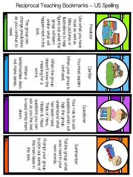 FREE Reciprocal Reading Bookmarks by Mrs N