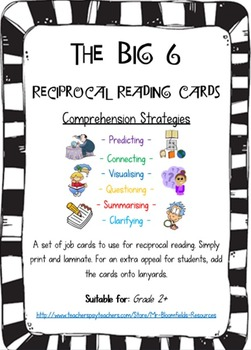 Reciprocal Reading Cards - The Big 6