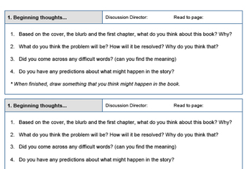 Literature Circle / Reciprocal Reading Pack - Role / Observation Sheets, Rubrics