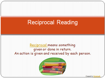 Reciprocal Reading Pack - US spelling