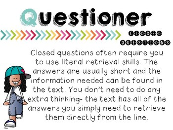 Reciprocal Reading Questioner Pack (UK English)