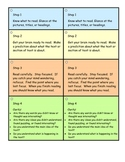 Reciprocal Reading Strategy Cards