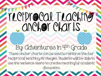 Reciprocal Teaching Anchor Charts- Chevron