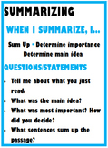 Reciprocal Teaching Cue Cards