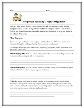 Reciprocal Teaching Graphic Organizer