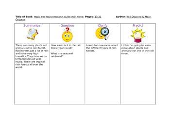 Reciprocal Teaching Graphic Organizer