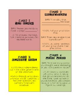 Reciprocal Teaching/ Literature Circle/ Book Club Guideline Cards