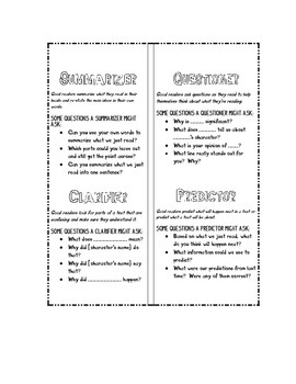 Reciprocal Teaching (Literature Circle) Role Bookmark