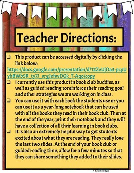 Reciprocal Teaching & Other Reading Strategies for Book Club Buddies (Digital)