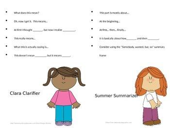 Reciprocal Teaching Sentence Starters
