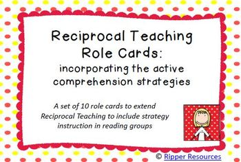Reciprocal Teaching strategy cards + mini graphic organise