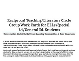 SEI Endorsement-Reciprocal Teaching/LitCircle Cards Gr.7-1
