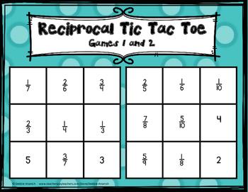 Reciprocal Tic Tac Toe