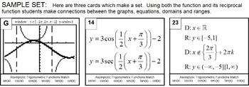 Reciprocal Trig Graph Match