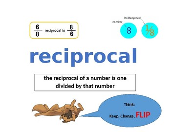 Reciprocal Vocabulary Poster