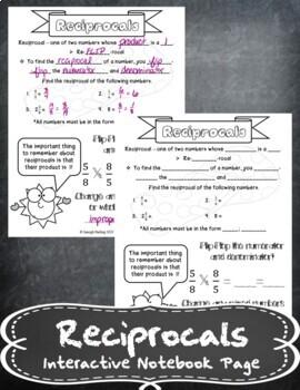 Reciprocals INB TEKS 6.3A