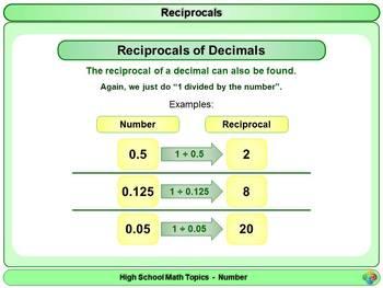 Reciprocals for High School Math